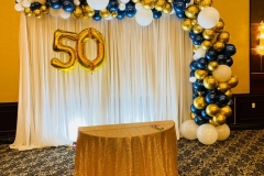 Organic-Balloon-Garland-for-50th-Number-Party