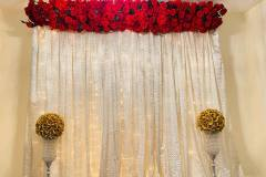 Backdrop With Flower Panel and Flower Ball & Crystal Vase