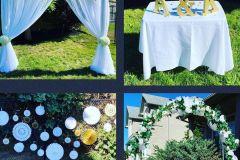 At Home Wedding Decor