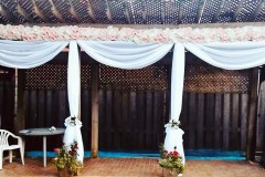 Pool-Side-Decor-With-Drapes-and-Flower-Panels